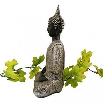 buddha-statue-silber-dekoration-wohnzimmer-30-cm-2