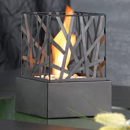 li il carlo milano tisch dekofeuer feng shui mit steingarten. Black Bedroom Furniture Sets. Home Design Ideas