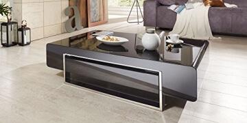 ▷ lI❶Il Couchtisch schwarz Hochglanz mit Schublade Case 140x80cm ...