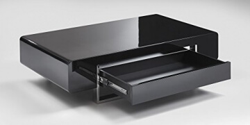 Li Il Couchtisch Schwarz Hochglanz Mit Schublade Case 140x80cm