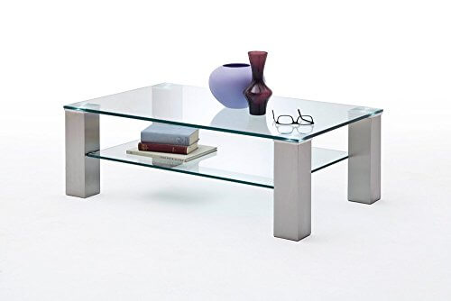 li il wohnzimmertisch sofatisch kaffeetisch glastisch glas metall. Black Bedroom Furniture Sets. Home Design Ideas
