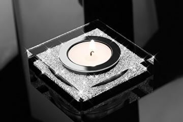 edler-teelichthalter-lotus-1-mit-swarovski-elements-kristallen-funkelnde-tischdeko-schwarz-4