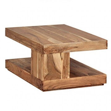 FineBuy Couchtisch Massiv Holz Akazie 90 Cm Breit Wohnzimmer Tisch Design Natur Produkt Landhaus Stil