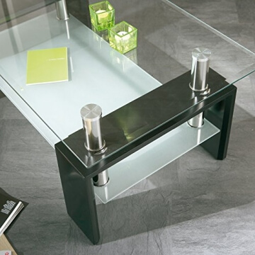 li il links 50100045 couchtisch aus glas holz schwarz. Black Bedroom Furniture Sets. Home Design Ideas