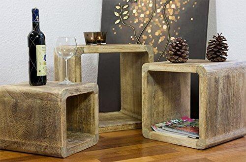 NEG Tisch-Set Echtholz ( Paulownia )