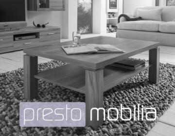 Presto mobilia 10259 Couchtisch Borneo 12, 110 x 70 x 44 cm, Nußbaum/weiß -