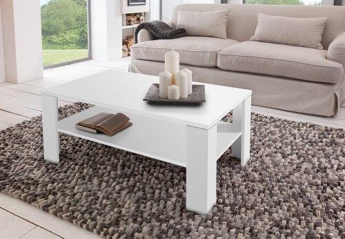Couchtisch Carla - Der Couchtisch für jeden Wohnraum 100 x 60 x 44 cm/weiß