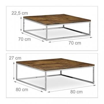 relaxdays-couchtisch-holz-flat-2er-set-natur-hbt-27-x-80-x-80-cm-grosser-wohnzimmertisch-passt-ineinander-als-satztisch-flacher-beistelltisch-mit-chrom-metall-fuer-stube-als-sofatisch-dunkel-braun-3