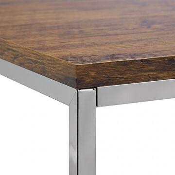 ▷ lI❶Il Relaxdays Couchtisch Holz FLAT 2er Set natur Chrom-Metall ☀️