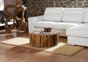 Li❶il Teak Couchtisch Bega Xl Wohzimmer Tisch Rund Holz Massiv