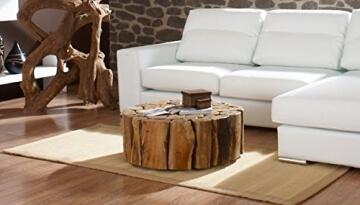 li il teak couchtisch bega xl wohzimmer tisch rund holz. Black Bedroom Furniture Sets. Home Design Ideas