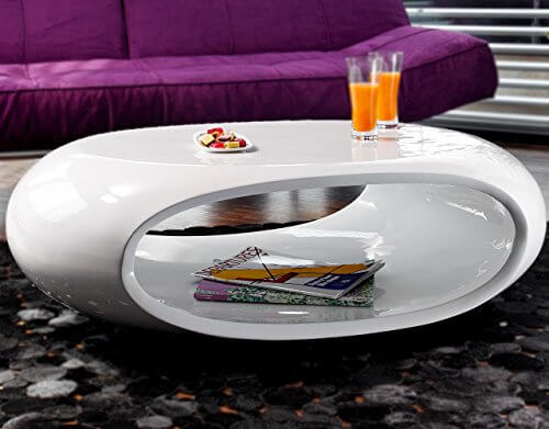 li il couch tisch 39 39 ufo 39 39 hochglanz wei oval aus fiberglas. Black Bedroom Furniture Sets. Home Design Ideas