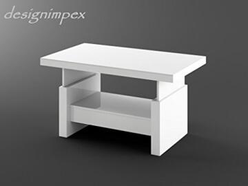 li il design couchtisch hochglanz weiss h henverstellbar ausziehbar. Black Bedroom Furniture Sets. Home Design Ideas