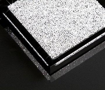 Untersetzer mit Swarovski Kristallen Detailaufnahme