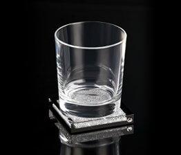 Untersetzer mit Swarovski Kristallen mit Glas