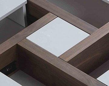li il beliani designer couchtisch weiss braun evora top produkt. Black Bedroom Furniture Sets. Home Design Ideas