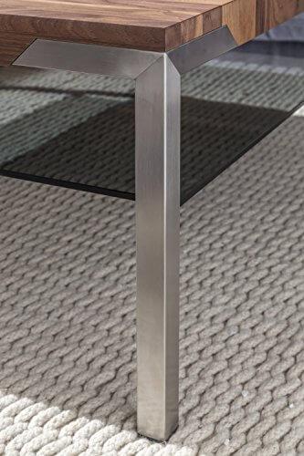 Nussbaum Tisch mit Metallbein