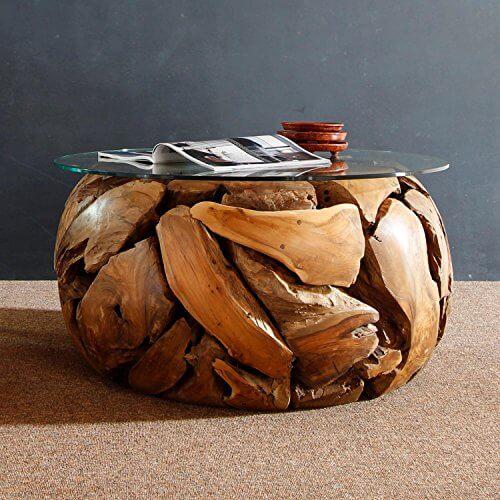 Wohnzimmertisch holz wurzel jeder tisch ein besondere for Besondere couchtische