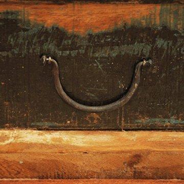 vidaXL Antik Teak Massivholz Aufbewahrung Box Couchtisch Truhe Shabby Vintage Retro - 8