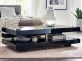 Couchtisch schwarz Hochglanz Ancona 120x70cm Wohnzimmertisch - 1