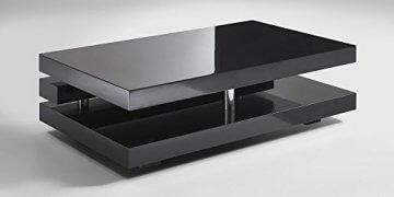 Couchtisch schwarz Hochglanz Ancona 120x70cm Wohnzimmertisch - 3