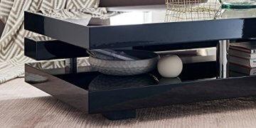 Couchtisch schwarz Hochglanz Ancona 120x70cm Wohnzimmertisch - 4