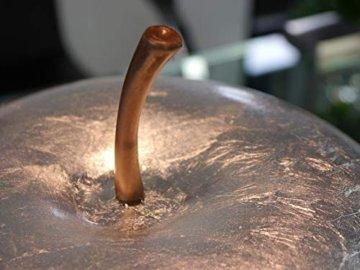 Deko-Apfel aus Fiberglas in Hochglanz Silber - Größe (ØxH): Ø25x29 cm - 3