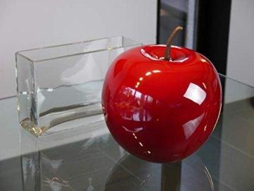Deko-Artikel Apfel aus Fiberglas in Hochglanz, Deko-Obst, Deko (Ø15x H18 cm, Rot) - 1