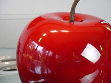 Deko-Artikel Apfel aus Fiberglas in Hochglanz, Deko-Obst, Deko (Ø15x H18 cm, Rot) - 2