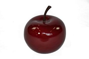 Deko-Artikel Apfel aus Fiberglas in Hochglanz, Deko-Obst, Deko (Ø15x H18 cm, Rot) - 4