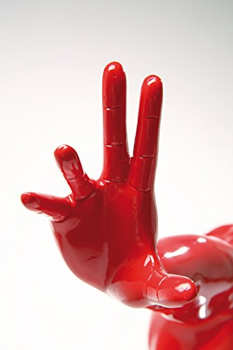 Deko Objekt Athlet, Rot, moderne, große Dekorationsfigur auf Marmor Sockel, Fitness Statue Design Mann, Skulptur, (H/B/T) 52x75x23cm - 4