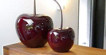 eastwest-deko Deko-Kirsche aus Fiberglas in Hochglanz, Deko, Deko-Obst, Deko-Artikel (L26 x B22 x H50 cm, Kirschrot) - 1