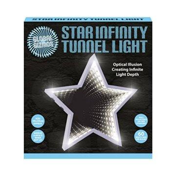 Global Gizmos 29cm 60LED Star geformte Infinity Spiegel Licht, Kunststoff, weiß - 2