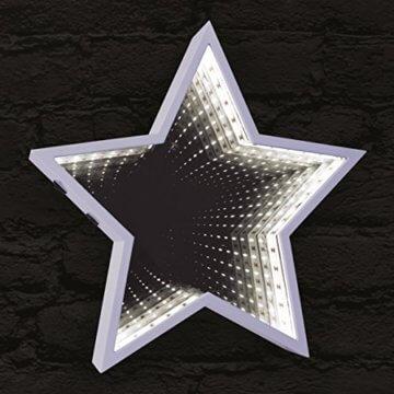 Global Gizmos 29cm 60LED Star geformte Infinity Spiegel Licht, Kunststoff, weiß - 3