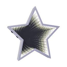 Global Gizmos 29cm 60LED Star geformte Infinity Spiegel Licht, Kunststoff, weiß - 1