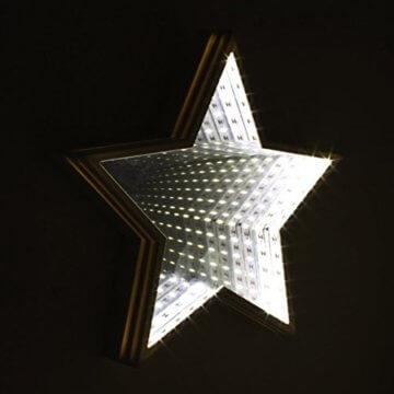 Global Gizmos 29cm 60LED Star geformte Infinity Spiegel Licht, Kunststoff, weiß - 4