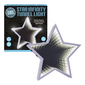 Global Gizmos 29cm 60LED Star geformte Infinity Spiegel Licht, Kunststoff, weiß - 5