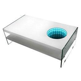 Home Deluxe - LED Tisch mit Tiefeneffekt - weiß - 1