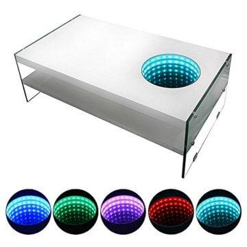Home Deluxe - LED Tisch mit Tiefeneffekt - weiß - 3