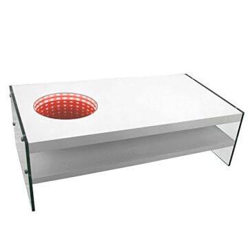 Home Deluxe - LED Tisch mit Tiefeneffekt - weiß - 4