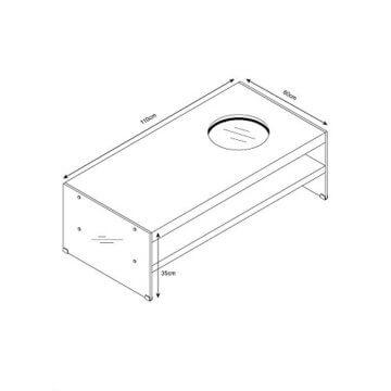 Home Deluxe - LED Tisch mit Tiefeneffekt - weiß - 6