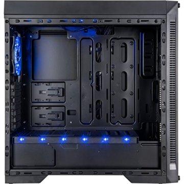 Infinity-Mirror Tower Gamer PC Gehäuse mit Tempered Glass Front Spiegelglas Unendlichkeitsspiegel RGB-LEDs Gaming Gehäuse der Extravaganz ohne Netzteil - 4