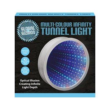 Sensorische Unendlichkeit Spiegel Tunnel Licht Entspannende Runde Wand Schreibtisch Stimmungslampe 42 LED - 2