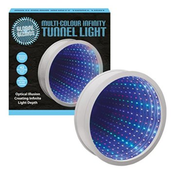 Sensorische Unendlichkeit Spiegel Tunnel Licht Entspannende Runde Wand Schreibtisch Stimmungslampe 42 LED - 3
