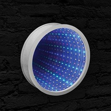 Sensorische Unendlichkeit Spiegel Tunnel Licht Entspannende Runde Wand Schreibtisch Stimmungslampe 42 LED - 4