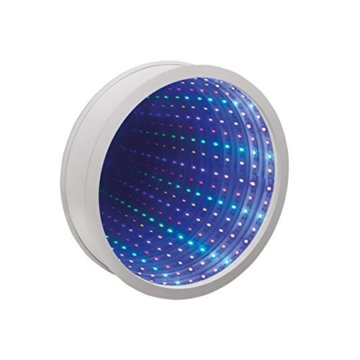 Sensorische Unendlichkeit Spiegel Tunnel Licht Entspannende Runde Wand Schreibtisch Stimmungslampe 42 LED - 1