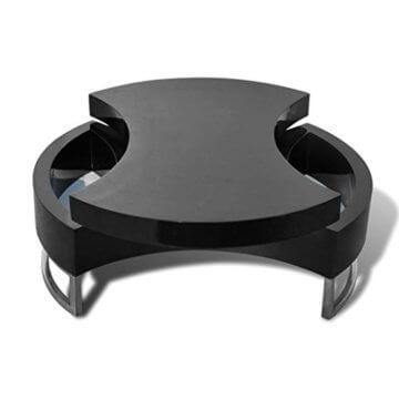 vidaXL Couchtisch Kaffeetisch Beistelltisch Formverstellbar Hochglanz Schwarz - 3