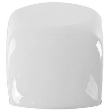 vidaXL Hochglanz Couchtisch Kaffeetisch Beistelltisch mit LED Fiberglas Weiß - 5