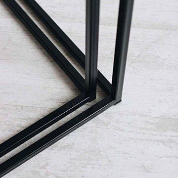 2er-Set Couchtisch (MSH) Eiche Metall Beistelltisch Industiedesign loft Vintage Sofatisch massiv Holz (Eiche Natur) - 4