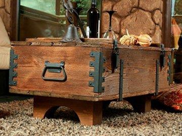 Alte Truhe Kiste Tisch shabby chic Holz Beistelltisch Holztruhe Couchtisch Länge: 81 cm Höhe: 39 cm Tiefe: 50 cm - 2